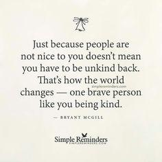 Kill em with kindness