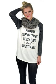 proud supprter baseball shirt - heather grey #baseball #casual #chic #comfy #cream #fall #graphic #grey #heather-grey #large #layers #long #medium #messy-hair #new #popular #proud-supporter #quote #retro #shirt #small #sweatpants #top #white #winter