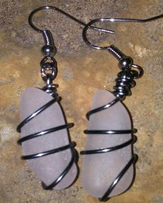 Lovely Wire Wrapped Light Lavender Sea Glass by MermaidsCavern, $13.00