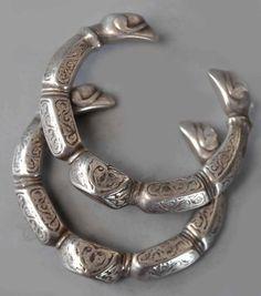 Silver bracelets, Saxon, c.800AD