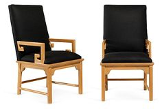 Greek-Key Arm Chairs, Pair on OneKingsLane.com