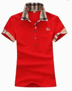 Burberry Brit Women s Polo T shirt. Size Medium. Red New With Tags.   Burberry  POLO 0f43a8ef140d5