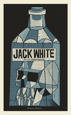 JACK WHITE AMSTERDAM 2014 | Limited Edition Gig Posters Archives - Methane Studios