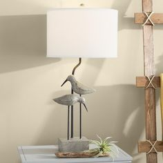 Beachcrest Home Leila 31 Table Lamp Tripod Table Lamp, Table Lamp Sets, Compact Fluorescent Bulbs, Light Highlights, Leaded Glass, Small Living Rooms, Modern Rustic Interiors, Drum Shade, Home Decor