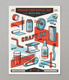 FAVORITE THING EVER. Summit Brewing Co. | Prohibition Repeal Poster 2015 on Behance