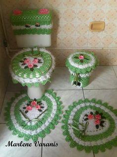 Jogo de banheiro em crochê