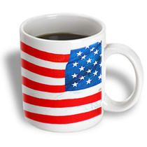 3dRose - Jos Fauxtographee Patriotism - A vivid colored red, white ad blue flag for Vexilologist - Mugs