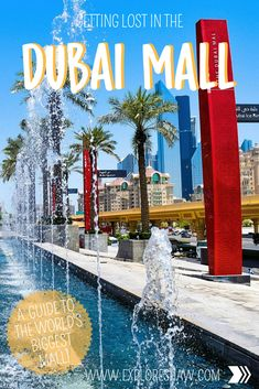 A complete guide with everything you need to know to navigate your visit to The Dubai Mall in the UAE, the largest mall in the word. Ice Skating Lessons, Us Travel, Travel Tips, Dubai Aquarium, Visit Dubai, Dubai Mall, Tourist Spots, World's Biggest, World Records