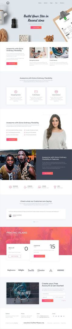 WrapKit is clean and modern design responsive multipurpose #HTML bootstrap template for #software #company #website with 25+ niche homepage layouts to live preview & download click on Visit