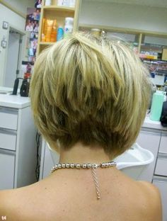 30 Popular Stacked A-line Bob Hairstyles for Women, HAİR STYLE, Summer Hairstyles for Short Hair, Stacked Hairstyles Back. Stacked Bob Hairstyles, Short Bob Haircuts, Choppy Hairstyles, Short Stacked Haircuts, Haircut Bob, Asymmetrical Hairstyles, Layered Haircuts, Stacked Bob Short, Layered Inverted Bob