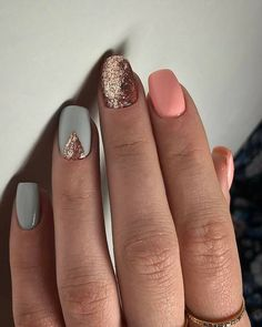 61 Summer Nail Color Ideas For Exceptional Look 2019 Are you looking for summer nails colors designs that are excellent for this summer? See our collection full of cute summer nails colors ideas and get inspired! Colorful Nail Designs, Beautiful Nail Designs, Cute Nail Designs, Nail Designs With Glitter, Chevron Nail Designs, Cute Easy Nail Designs, Short Nail Designs, Cute Spring Nails, Spring Nail Art