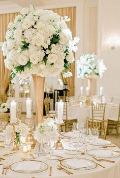 42 White Wedding Decoration Ideas ❤ white wedding decoration ideas white centerpiece amyarringtonphotography Be creative when decorating your Big day. Take a look at addorable white wedding decoration ideas in our gallery! White Wedding Decorations, Wedding Table Centerpieces, Flower Centerpieces, Reception Decorations, Centrepieces, Wedding Receptions, All White Wedding, White Wedding Flowers, Purple Wedding