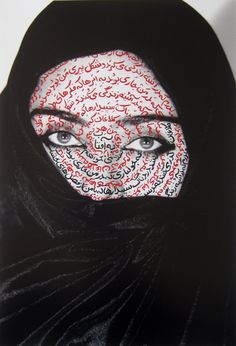 """Shirin Neshat  I am It's Secret (from The Women of Allah Series), 1993  Fujicolor crystal archive print  19 ½ x 13 inches  From an unnumbered edition of 250  Signed, titled & dated #ShirinNeshat 'I am its Secret' 1993"""" in black felt-tip pen on verso."""