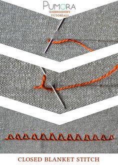 Pumora's embroidery stitch-lexicon: the closed blanket stitch