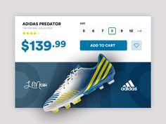 Daily UI #5 - Adidas Predator Glitch