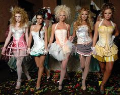 """Girls Aloud channel Marie Antoinette for """"Can't Speak French"""" Scissor Sisters, Nicola Roberts, Girls Aloud, Fantasias Halloween, Cheryl Cole, How To Speak French, Steampunk Costume, French Girls, In Pantyhose"""