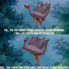 Did I mention I was the great stone dragon?