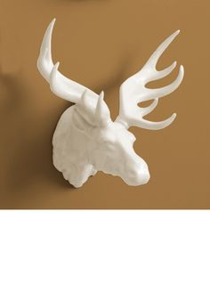 Wall Decor, White Porcelain Moose Trophy Head, so beautiful, inspire your friends and followers interested in luxury interior design, with new trending accents from Hollywood courtesy of InStyle Decor Beverly Hills, Luxury Designer Furniture, Lighting, Mirrors, Home Decor & Gifts, over 3,500 inspirations to choose from and share with our simple one click Pinterest Pin button enjoy & happy pinning