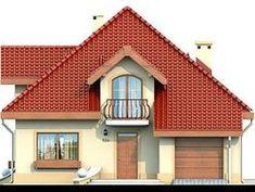 DOM.PL™ - Projekt domu DN Karen CE - DOM PC1-03 - gotowy koszt budowy Sims House Plans, Family House Plans, Dream House Plans, Home Building Design, Building A House, Beautiful Home Designs, Beautiful Homes, Kerala House Design, Kerala Houses