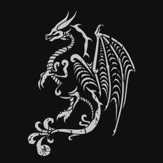 Hex Scaled Dragon Tattoo T-Shirt