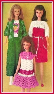 Vintage Barbie outfits...free patterns