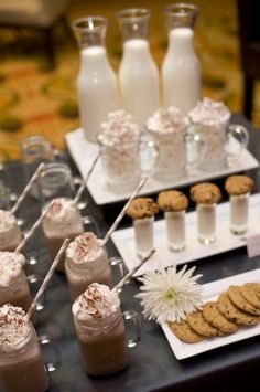 Winter dessert table...hot chocolate stand!