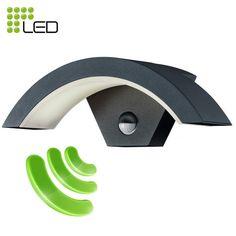 OHIO+-+Applique+exterieure+à+led+pour+l'éclairage+de+jardin+gris+anthracite+IP54+avec+détecteur+de+mouvement