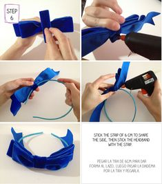 DIY headband bow: works like a charm! You have to pick the right type of ribbon though, to get this look.
