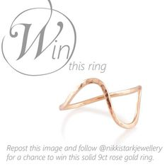 I'm giving away a rose gold Sally ring! Repost this image and follow @nikkistarkjewellery to enter.