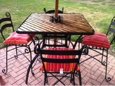 Patio Table Makeover  No Need To Toss Shattered Glass Patio Table Base.