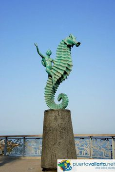 El Caballito de Mar (The Little Seahorse), a city icon.  More: http://www.puertovallarta.net/what_to_do/statues-puerto-vallarta-malecon.php    #puertovallarta #vallarta #mexico #jalisco http://twitter.com/puertovallarta2