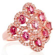 Rarities: Carol Brodie Pink Tourmaline White Topaz Ring