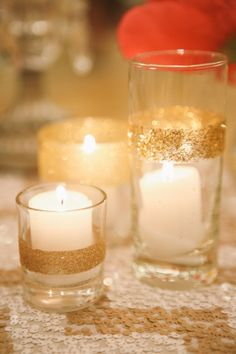 DIY glitter candle votives - Photography Brandon Kidd