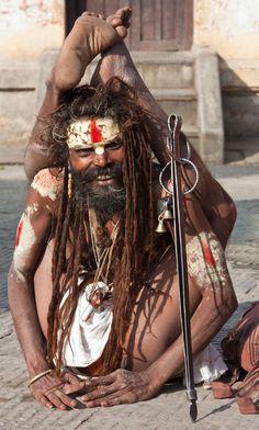Portrait of a Yogi in Kathmandu. #Travel #Kathmandu