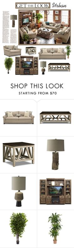 """Get the Urban Look"" by amsigfurniture ❤ liked on Polyvore featuring interior, interiors, interior design, home, home decor, interior decorating, Nearly Natural, GetTheLook, livingroom and homedecor"