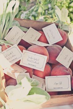 Peach escort cards