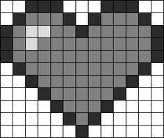 Kandi Patterns for Kandi Cuffs - Simple Pony Bead Patterns Easy Perler Bead Patterns, Pony Bead Patterns, Perler Bead Templates, Kandi Patterns, Beading Patterns Free, Perler Bead Art, Graph Paper Art, Pixel Crochet, Bille