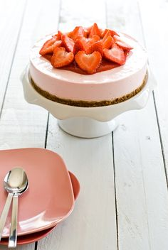 cheesecake fraise & spéculoos