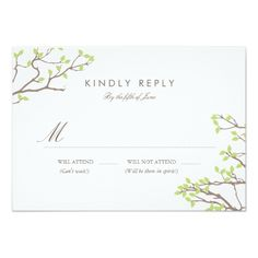 Spring RSVP Wedding Invitations Blissful Branches RSVP Card