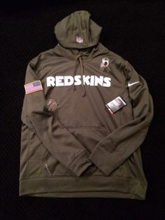 Nike Washington Redskins Salute to Service KO Pullover Performance Hoodie  -Olive cb5ed307f