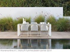 Manutti laat witte designmeubelen stralen op je terras
