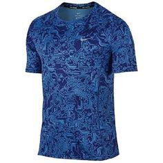 100% authentic 76e47 7bf34 Nike Mens Dri Fit Miler S S Shirt Deep Royal Blue Photo Size Medium