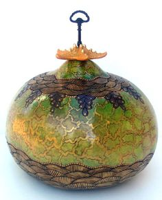 OMG = Oh My! Gourds!  :)  I love artwork made from gourds....