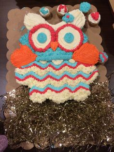 Owl Cupcake Cake -- God has created every person with unique abilities and gifts. His desire is that we take delight in our gifts and use them as a vehicle to share His love.