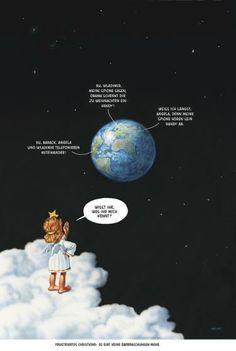 """Haderer-Karikatur vom 30. November 2013: """"Frustriertes Christkind: Es gibt keine Überraschungen mehr."""" (Bild: Haderer)"""