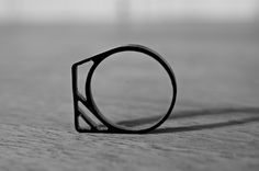 """laser cut ring out of black acrylic – based on ancient rune meaning """"F"""", """"promotion"""" & """"prosperity"""" by RUNECYCLE available on etsy.com/shop/runecycle Ancient Runes, Black Acrylics, Laser Cutting, Promotion, Rings For Men, Shop, Etsy, Jewelry, Jewellery Making"""
