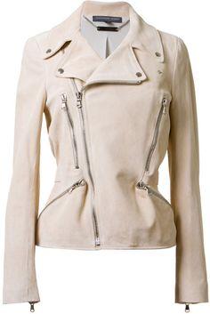 Zipped Biker Jacket - Lyst