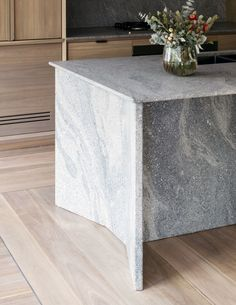Loftus Lane. Chamfered edge details to the Pacifico granite island bench.