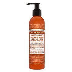 Loción Orgánica Corporal y de Manos de Naranja y Lavanda - Orange Lavender Organic Hand & Body Lotion - Oianora