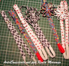 ArteConsciente.net por Renata Marengo: Tiaras e faixa para cabelo: tecido & crochê!